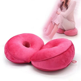 Dual Memory Foam Hip Cushion comfort hip cushion The double doughnut shape fits your body perfectly relieving sciatica pains, easing pregnancy discomfort toggle tailbone supports supportive support stress strains spine soft sitting relief pressure pregnant plush pain relief memory material Home hips hip gift foam discomfort correct chair