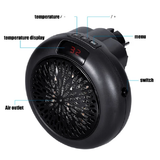 900W Electric Fan Heater Feeling the cold? This Portable warm you up! digital temperature display, auto shut off plug into your wall socketwarmth warming Warmer warm walls wall-mounted wall space Portable Outlet Heating Heaters Heater Heated Heat fanheaters Fan's fan electricals electrical electric 900w