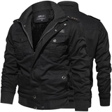 black Casual Military Style Jacket Upgrade outerwear perfect smart any occasion style with button down shoulder & cuff stand up collar smart-casual smart pockets Outerwear Military menswear mens mans man jackets jacket fleeces fleeced fleece everyday comfortable coats coated coat Casuals casual dress Casual attire army green