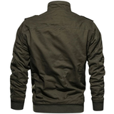 army green Casual Military Style Jacket Upgrade outerwear perfect smart any occasion style with button down shoulder & cuff stand up collar smart-casual smart pockets Outerwear Military menswear mens mans man jackets jacket fleeces fleeced fleece everyday comfortable coats coated coat Casuals casual dress Casual attire