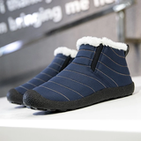 blue Unisex Winter Snow Boots Comfortable and lightweight, it's like wearing slippers! Faux fur lining feet warm during autumn and winter waterproof Water resistant warmth warming Warmer warm Unisex Snow boot Snow Ski Non-slip Lined Lightweight Keep inside Flats Faux Fur Cotton Bottom Boots Boot Autumn Antiskid