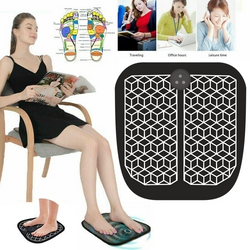 EMS Physiotherapy Foot Massager therapeutic sensations that have a massage feel Relieves aches Women's womens women womans woman Wireless vibrator vibration Vibrating vibrate Tens Revitalizing Pedicure padding pad's Pad mum Massaging massagers Home gift footcare foot soles flat feet feetcare electrodes electrode electrical electric