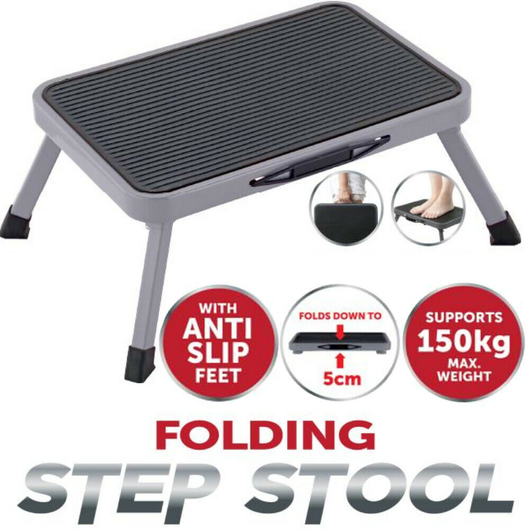 Easy Reach Folding Step Stool Folds completely flat for storage Integrated handle for easy transportation stools stool steps slip resistant Slip Reach non-slip Ladders Ladder kitchens gadget kitchen accessories home improvements Home garages garage folds flat Folding Table Foldable Fold-Flat fold feet Anti-slip Anti