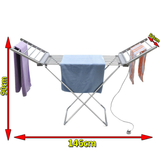 Electric Heated Clothes Dryer It costs less than £0.04p per hour to run Ideal for drying jumpers and delicate items, drying laundry, airing damp clothes Rack Portable Laundry indoors Indoor Horse heats Heating Heaters Heater Heated Heat Folding electrical electric Dryers dryer clothing clothes Airers Airer