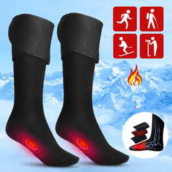 Electric Heated Cotton Socks Avoid getting cold feet this winter soft cotton comfortable integrated heat panels wintersports winters winter warm thermal socks sock outdoors outdoor-living Outdoor games outdoor activities outdoor integrated Heating Heated Foot cotton cosy comfortable cold feet battery powered battery