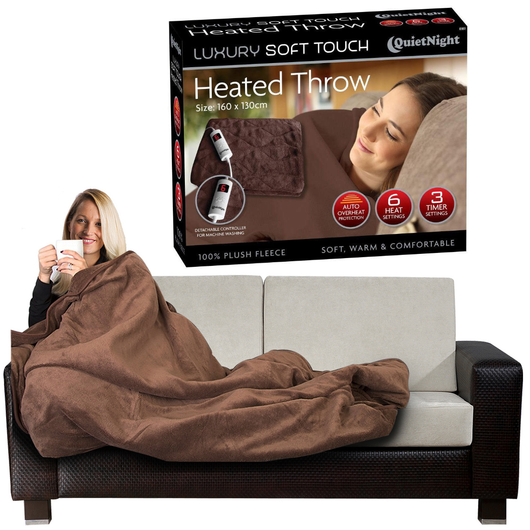 Electric Heated Throw Stay extra cosy this winter with this super soft for a cosy night in on the couch, gift for somebody home comforts warmth warming warm timer Throws throw soft rugs rug Over Luxury Heating Heaters Heater Heated Heat fleece electrical electric Digital Controller blankets Blanket