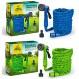 Expanding Garden Hoses Keep your garden & plants lush No need to coil up heavy, bulky hose pipes watering water storage Sprayer Spray Gun spray she plants pipes pipe outdoor lush lawn Hosepipe hose Home green grass gardens gardening gardeners gardener foot flowers flexible Flexi Expandable expand easy blue allotment 50 Foot