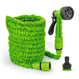 green Expanding Garden Hoses Keep your garden & plants lush No need to coil up heavy, bulky hose pipes watering water storage Sprayer Spray Gun spray she plants pipes pipe outdoor lush lawn Hosepipe hose Home green grass gardens gardening gardeners gardener foot flowers flexible Flexi Expandable expand easy blue allotment 50 Foot