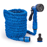 blue Expanding Garden Hoses Keep your garden & plants lush No need to coil up heavy, bulky hose pipes watering water storage Sprayer Spray Gun spray she plants pipes pipe outdoor lush lawn Hosepipe hose Home green grass gardens gardening gardeners gardener foot flowers flexible Flexi Expandable expand easy blue allotment 50 Foot