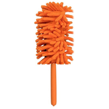orange Extendable Magic Microfibre Feather Duster Perfect for cleaning dust from hard to reach places The ultra soft noddle extendable duster Telescopic Microfibre Micro Magical Magic feather's feather Extending Extendable dusters duster dust remover Dust deep clean cleans cleaning cleaners Cleaner clean brushing Brushes brush