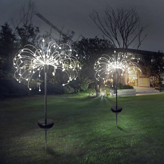 Solar Firework Light Fantastic outdoor eye-catching and unique design 90 LED lights summer solarpowered solarpower solar-powered sensor light Powered power lightup lighting Light-up light show Light leds LED lights house gift gardens gardening gardeners gardener garden parties fireworks fire fairy lights fairy garden