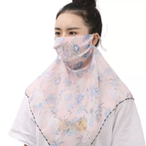 Floral Scarves Face Coverings Made out of breathable polyester and including earhook ropes perfect for covering both face and neck Women's womens women womans woman shops shopping Scarves scarfs scarf mouth mask's Mask ladys Lady Ladies health girls girl fashions fashionable fashion wear faces covid19 covid-19 covid coverup cover coronavirus