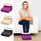 Foot Warmer and Massager your feet are kept snug and warm relaxing massage soft, removable fleece lining Warmer Suede RELAXING relaxes relaxed relax massager's massager Heating Heaters Heater Heated Heat foot fleece feet electricals electrical electric's electric comfortable comfort