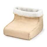 cream Foot Warmer and Massager your feet are kept snug and warm relaxing massage soft, removable fleece lining Warmer Suede RELAXING relaxes relaxed relax massager's massager Heating Heaters Heater Heated Heat foot fleece feet electricals electrical electric's electric comfortable comfort