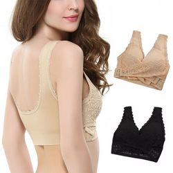 Cross Over Lace Push-Up Bra comfy & chic side fasten bra comfortable, flexible flattering Shaped to wrap around your body wraps Wrap womens women womans woman up Support's support straps shapes Shaper shape sexy Pushup push Lingerie Lifts lifting lift Lace girls girl gift fashionable fashion wear comfortable comfort clothing clothes Bras