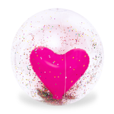 Giant 3D Glitter Heart Beach Ball Make a splash with this giant 3D glitter heart beach ball glittery water travel swimming pool sunshine summer holiday summer seaside sea poolside pool party pool play love island love kids Hearts heart glitter glam girls garden parties garden games fun family fun Enjoy decoration Children child boys balls ball