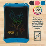 blue Gizmo City Kids' LCD Drawing Pad Draw beautiful and creative pictures take notes compile your to-do list writing board writing writes writer write pad's Pad LCD kids kid Gizmo girls girl gift fun draws drawing draw Digital colourful City childs childrens Children child boys boy