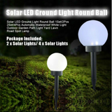 Solar Garden Globe Lights Give your garden some atmospheric ambient lighting stakes Stake Spotlight solarpowered solarpower solar-powered solar panel Security Round pathways pathway paths path lights lighters lighter Light-up Light LED lights ground globes gardens gardening gardeners gardener garden parties balls ball