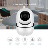 Smart 360° HD Camera with Night Vision Keep a third eye on your home HD Wireless IP night vision security camera wirelessly wireless WIFI vision video use two way third motion monitor microphone IP intercom high definition HD footage eye detection cloud CCTV capture camera built audio alerts alert