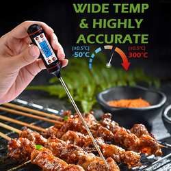 Habor Digital Cooking Thermometer professional temperature probe Calculates accurate food hot out of the oven Water Turkey Thermometers Screen Rea Probe Multi-Functional Milk meats Meat Long LCD display kitchens gadget kitchen accessories Instant grilling grill for Food Digital cookware cooks cookery cook Best bbqs BBQ Backlit and