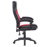Red High Back Ergonomic Office Chair Made from high quality PU leather, easy to clean Extra thick padding Swivel Wheels seats seating seat Recliner Racing PU leather PU offices office Lounger Chairs Leather High quality high Height Gaming games Gamers game Ergonomic computers computer chairs chair backseat Back Armchair
