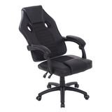 black High Back Ergonomic Office Chair Made from high quality PU leather, easy to clean Extra thick padding Swivel Wheels seats seating seat Recliner Racing PU leather PU offices office Lounger Chairs Leather High quality high Height Gaming games Gamers game Ergonomic computers computer chairs chair backseat Back Armchair