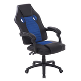 blue High Back Ergonomic Office Chair Made from high quality PU leather, easy to clean Extra thick padding Swivel Wheels seats seating seat Recliner Racing PU leather PU offices office Lounger Chairs Leather High quality high Height Gaming games Gamers game Ergonomic computers computer chairs chair backseat Back Armchair