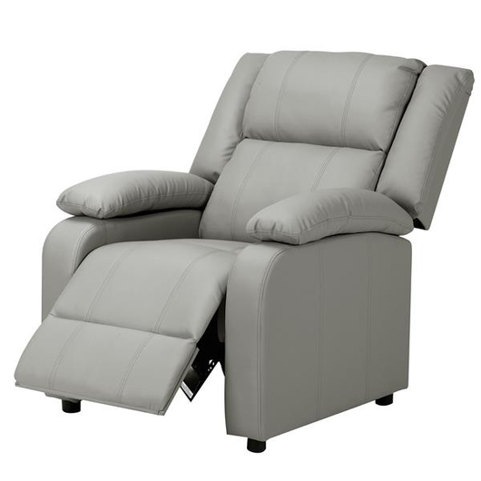 Home Cinema Recliner Chair Extremely soft faux leather cover seating comfort during your favourite film ergonomically sofas sofa Single seats seating seat RELAXING relaxes relaxed relax reclining recliners PU leather movies movie Lounger Chairs Leather homeware homes homely grey Cinematic cinemas chairs armchair