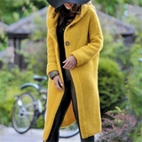 yellow Hooded Waterfall Cardigan cut is perfect for pairing with skirts and tights denims Stunning relaxed fit for colder months staple season Women's womens women womans woman tops tights skirts Lady ladies jeans jackets jacket hoody Hoodies Hoodie hood girl's girl denim coats coat cloths clothing cardigans
