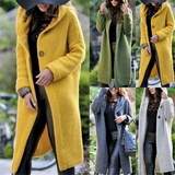 Hooded Waterfall Cardigan cut is perfect for pairing with skirts and tights denims Stunning relaxed fit for colder months staple season Women's womens women womans woman tops tights skirts Lady ladies jeans jackets jacket hoody Hoodies Hoodie hood girl's girl denim coats coat cloths clothing cardigans