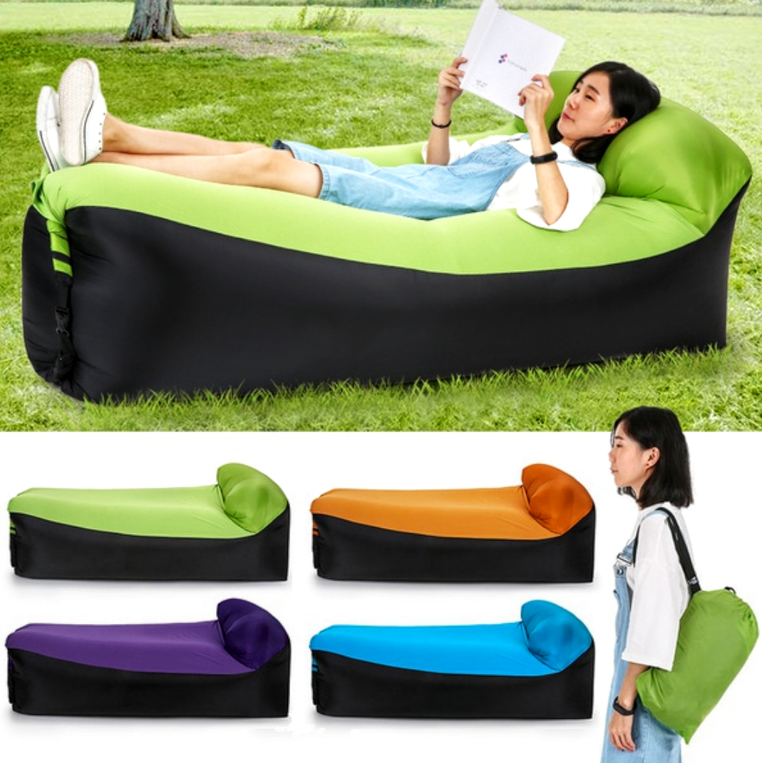 Sensible Fast Inflatable Lazy Bag Air Sleeping Bag Outdoor Inflatable Sofa Portable Beach Inflatable Sofa Camping Air Sofa New As Effectively As A Fairy Does Sports & Entertainment