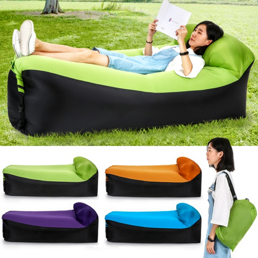 Inflatable Air Lounger with Headrest