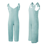 blue Loose Fit Jump-Suit Stay cool and casual soft cotton super comfortable and stylish Women's women's women womans woman trending travel summer suits playsuits outfit's outfit jumpsuits Jumpsuit jump-suits Jump-Suit jump Home holiday girls girl FITTED Fit's Fit fashions fashionable fashion wear dressed dress-up cloths clothing clothes cloth