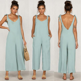 Loose Fit Jump-Suit Stay cool and casual soft cotton super comfortable and stylish Women's women's women womans woman trending travel summer suits playsuits outfit's outfit jumpsuits Jumpsuit jump-suits Jump-Suit jump Home holiday girls girl FITTED Fit's Fit fashions fashionable fashion wear dressed dress-up cloths clothing clothes cloth