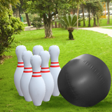 Jumbo Inflatable Garden Bowling Set Bowl outdoors fun and activity sport alley ten sets set playset pin outdoors outdoor-living Outdoor games outdoor activities kids kid Jumbo inflating inflateable inflate inflatables girls girl gardens garden parties garden games fun childs childrens Children child boys boy bowls Bowling balls ball