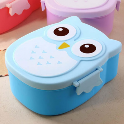 Kids Blue Owl Lunch Box