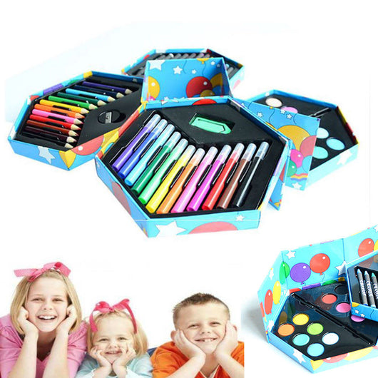 52pc Kids Colouring Drawing Set