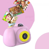 pink Kids Digital Camera child photographer point & press photo capture shock absorbing robust hard wearing Features LCD screen flash zoo toys toy SLR press pictures picture photography photo kid's HD grips girls girl gift fun Digital child's childrens Children child capturing Capture camera's boys boy 1080p