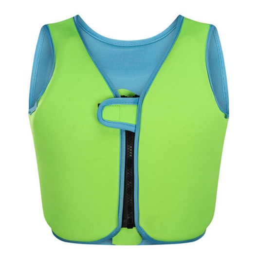 Green Kids Swimming Float Vest Keep your little ones safe. A great aid for your child providing extra buoyancy support watersports water vests swimwear Swimsuit pool swimming aid swimmer swim surfing surf seaside sea safe rays Protected ocean kid's kid holidays holiday floats Floating Children's Children child boogie beach