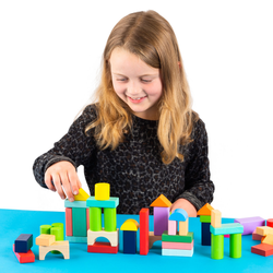 Kids' Wooden Toy Brick Set