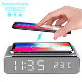 LED Alarm Clock Wireless Phone Charger Amazing new LED alarm clock with built in wireless phone charger docking station with time Thermometers smartwatches Smartwatch smartphones smartphone smart phone phones mobile phone mirrors LED HD electrical electric Digital desktop Clocks Clock chargers charger charge bedside bedrooms bedroom bed alarm clocks
