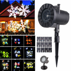 LED Christmas Laser Projector Halloween, New Year, Parties, Sprinkle your home with bright laser projected starry sky Xmas Themes Themed Theme Stars star projects Projectors projection project portable light Outdoor lights lighting light show leds led display lazers lazer Laser house homes Home Halloween gardens garden