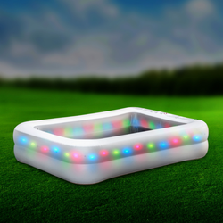 LED Swimming Pool The perfect way to relax this Summer Ideal for letting your little ones cool down in the heat Features 51 RGB bright LED bulbs girl boys boy's 51 swimwear swimming pool Children's Children kids sunny sun Leisure summer fun outdoor activities garden parties garden family pools pool swimming Paddling LED up lights Light