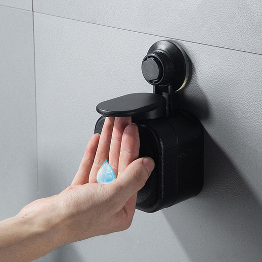 Black Wall Mounted Liquid Soap Dispenser Keep your sinks and basins clutter free with this wall mounted washing wash wall tidy soapy soaps soap small sinks sink sanitiser safe rooms neat mum mounted modern lather hygienically hygeinic hygeine homes Home hands hand functional function design compact cleaning clean Children child bathrooms bathroom basin