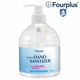 Large 500ML Hand Gel Sanitiser 70% Alcohol Stock up Manufacturers compliance standards & certifications: FDA and CE. ISO 9001, ISO 9002, ISO ISO 14001. Compliance with TUV, NSF and HACCP. Safety bacteria antibacterial anti bacterial and covid19 covid-19 covid corona flu viruses virus coronavirus cleans clean Fourplus bottles bottle Anti-Bacterial Antibacterial