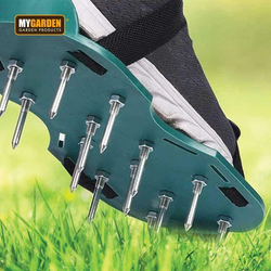 Lawn Aerating Spiked Shoe Soles Get a pair, easy fit buckles Aerates the soil with little effort for a greener, healthier straps strap Spiked spike soles Sole shoes shoe sandals Sandal lawns lawn Insoles Grass gardens gardening gardeners gardener garden foot soles foot feet boots boot aerators Aerator Aerating Adjustable