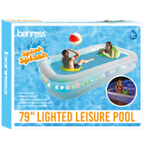 Light-Up LED Paddling Pool The perfect way to relax this Summer Ideal for letting your little ones cool down in the heat Features 51 RGB bright LED bulbs girl boys boy's 51 swimwear swimming pool Children's Children kids sunny sun Leisure summer fun outdoor activities garden parties garden family pools pool swimming Paddling LED up lights Light