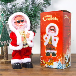 Musical Bling Dancing Santa Watch children's faces light up with joy as Santa dances along to Christmas tunes xmas tunes tree sunnies Santa Claus Santa red novelty gift novelty musicals Musical merry joy gift fun festivities festive Father Christmas Decoration's Decoration Dancing dance cool Characters Character