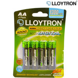Lloytron Rechargeable Ni-MH Batteries