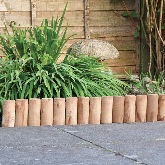 Log Roll Garden Edging
